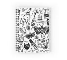 SPOOKY TATTOO FLASH SHEET Spiral Notebook