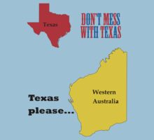 Texas please... dark text Baby Tee