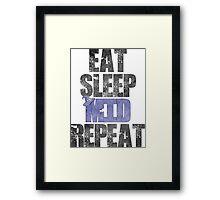 Eat Sleep Mid Repeat Framed Print