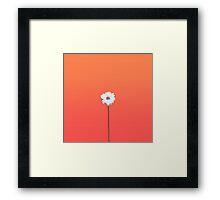 Summery Sunset Orange Gradient and White Daisy Framed Print