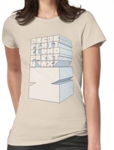 Z's Alphabet Womens Fitted T-Shirt