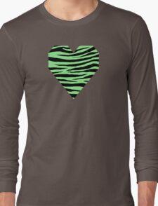 0371 Light Green Tiger Long Sleeve T-Shirt