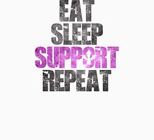 Eat Sleep Support Repeat Unisex T-Shirt