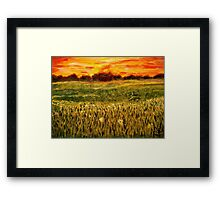 Sunset Fields Framed Print