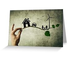 eco life 1 Greeting Card