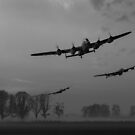 Dambusters departing, B&W version by Gary Eason