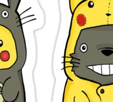 Totoro partner pikachu Sticker