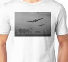 Dambusters departing, B&W version Unisex T-Shirt
