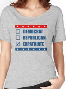 Election Democrat Republican Expatriate Women's Relaxed Fit T-Shirt