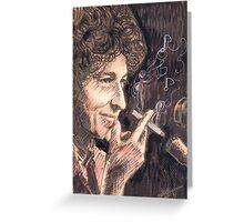 SMOKING DYLAN Greeting Card