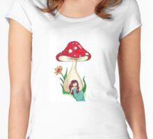 Mushroom Girl Women's Fitted Scoop T-Shirt