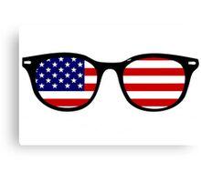 American glasses Canvas Print
