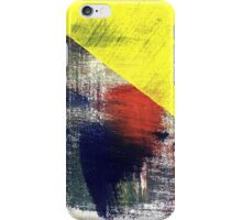Red on Yellow 4 iPhone Case/Skin