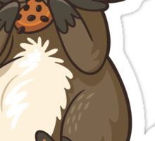 Funny little raccoon eating cookies Sticker