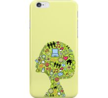 Social network head iPhone Case/Skin
