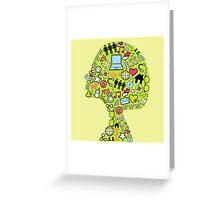 Social network head Greeting Card