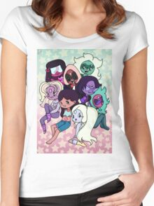 Current Steven Universe Fusions!! Women's Fitted Scoop T-Shirt