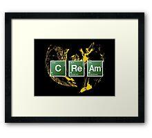 Heisenberg Cream Framed Print