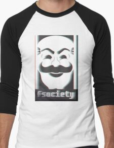 MR. ROBOT F*CK SOCIETY Men's Baseball ¾ T-Shirt