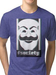 MR. ROBOT F*CK SOCIETY Tri-blend T-Shirt