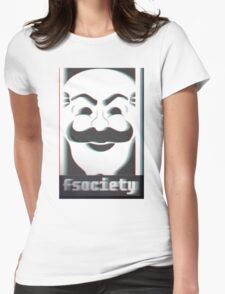 MR. ROBOT F*CK SOCIETY Womens Fitted T-Shirt