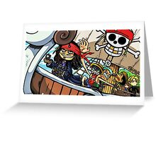 Jack sparrow and strawHatCrew Greeting Card