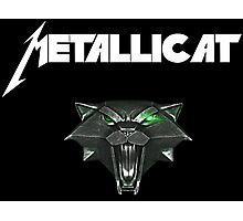 Rock Cat Heavy Metal Metallicat Photographic Print