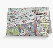San Francisco Houses #7 Greeting Card
