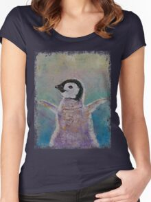 Baby Penguin Women's Fitted Scoop T-Shirt
