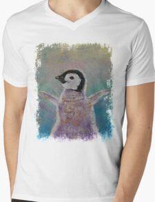 Baby Penguin Mens V-Neck T-Shirt