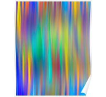 Rainbow Stripes abstract art Poster