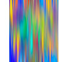 Rainbow Stripes abstract art Photographic Print