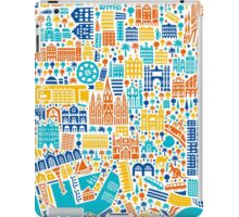 Barcelona City Map Poster iPad Case/Skin