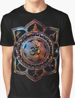 Om Lotus Flower Yoga Poses Graphic T-Shirt