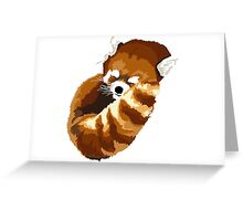 Muscle Zoo Red Panda Greeting Card