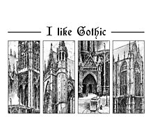 I like gothic - ink graphic Photographic Print