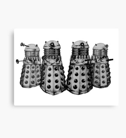 Exterminate ! -Gray Canvas Print