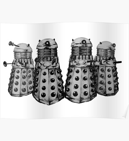Exterminate ! -Gray Poster
