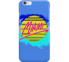 "Retro ""Miami"" Sun & Grid design iPhone Case/Skin"