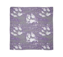 EmporiumBarnie lilac and grey paw prints design Scarf