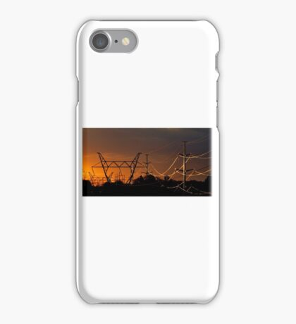 Sunlit hydro wires iPhone Case/Skin
