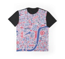 London City Map Poster Graphic T-Shirt