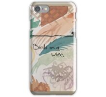 Three Birds on a Wire iPhone Case/Skin