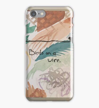 Three Birds on a Wire iPhone Case/Skin