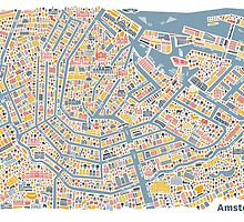 Amsterdam City Map by Vianina