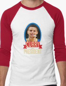 Steph Curry for president Men's Baseball ¾ T-Shirt