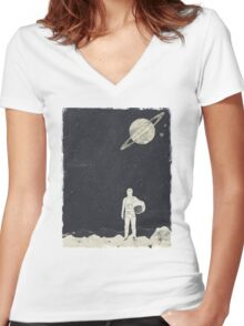Explorer   Women's Fitted V-Neck T-Shirt