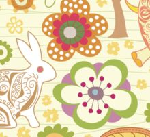 CUTE FLORAL ANIMALS Sticker