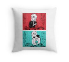 Sovereigns Hate Sweets - Red and Blue Throw Pillow