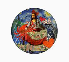 Mona Lisa Starry Night Whimsical Cancer Zodiac Astrology Unisex T-Shirt